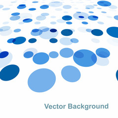 Abstract blue circle colorful background vector illustration