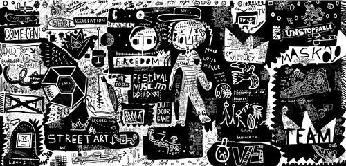 In de dag Graffiti Граффити