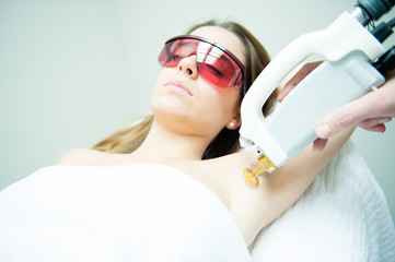 underarm laser hair removal treatment