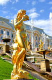 Statue in Peterhof Grand Palace in Russia