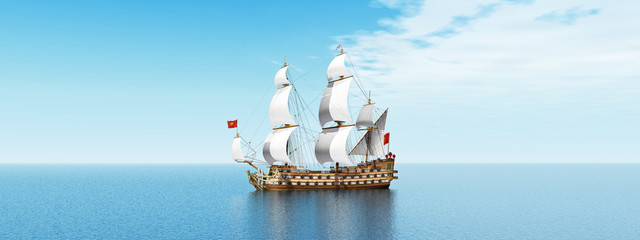 Segelschiff vor einer Wolkenfront