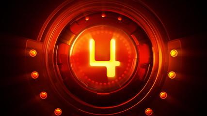 Film-leader countdown.