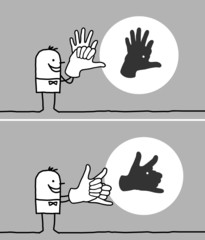 hands & animal shadows