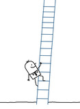 businessman climbing up