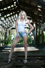 Pretty girl in shorts