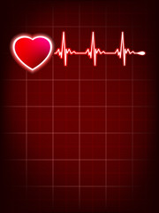 Heartbeat monitor electrocardiogram. EPS 10