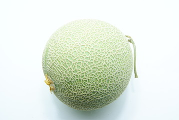 single melon on white background