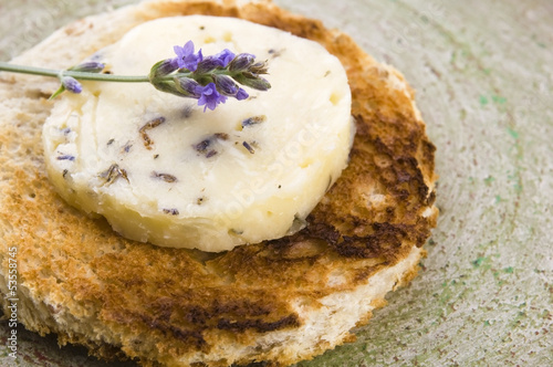 Herbs butter with lavender and honey