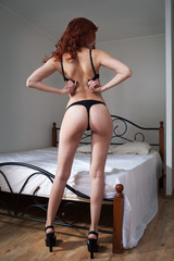 beauty woman in bedroom