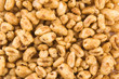 Popped wheat grains