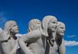 Sculptures in Vigeland park Oslo Norway