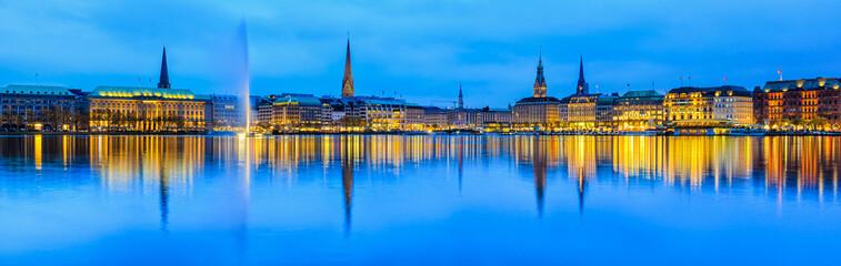 Hamburg Alster Panorama, Deutschland
