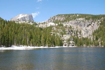 Bear lake et Hallett peak, Rocky Mountain National Park, CO, USA