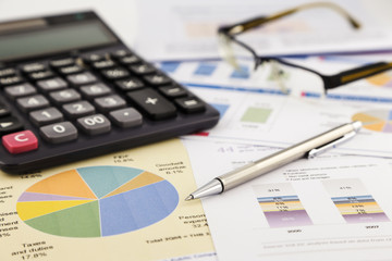 graphs and charts, financial report