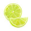 Fresh lime slice, Isolated on white background