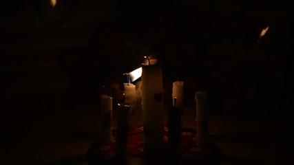 Kerzen ausp grosse Flamme