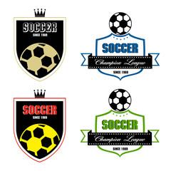 Soccer badge, Soccer labels, Soccer emblems