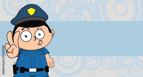 policeman kid cartoon background7
