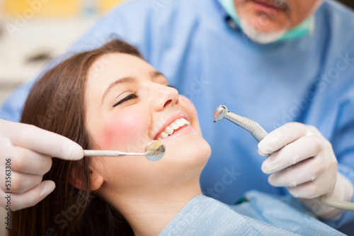 Dentist doing a treatment