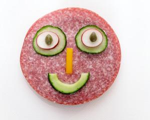 Salami-Gesicht