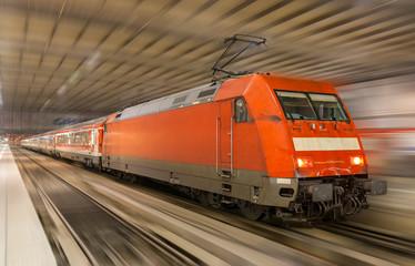 German train in Munich station - Bavaria