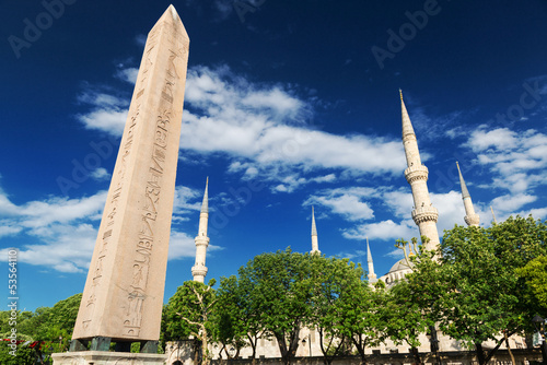 The Obelisk of Theodosius at the Hippodrome in Istanbul, Turkey