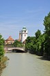 Isar river in Munich, Germany