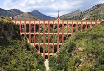 Old aqueduct named El Puente del Aguila in Nerja