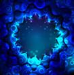 Neon bright blue background