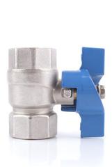 Ball valve on a white background.