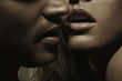 Young man with perfect facial hair and sensual lips of a woman