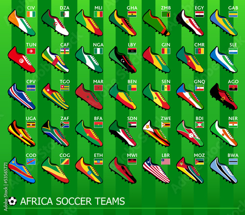 African soccer team shoes