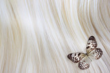 Blonde Hair with butterfly