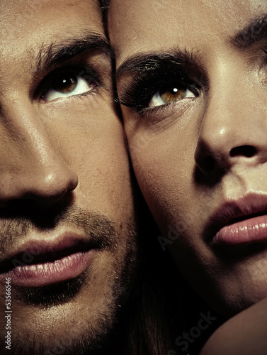 Close up portrait of a gorgeous couple