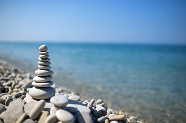 stones on the sea beach