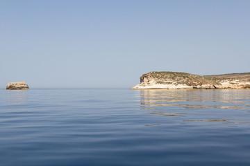 Lampedusa island, the souther italian island in the mediterranea