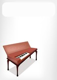 A Retro Clavichord with A White Banner