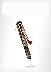 A Classical Contrabassoon with A White Banner