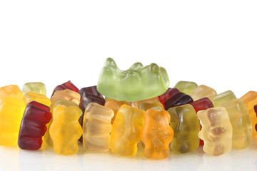 Gummy bear - crowd surfer by star and fans