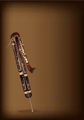 A Classical Contrabassoon on Dark Brown Background