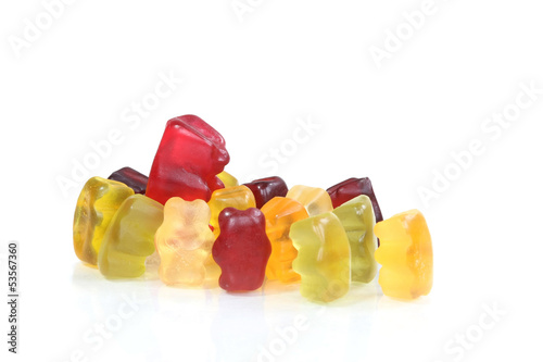 Gummy bear - a star is surrounded by paparazzi