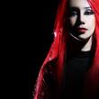 Redhead woman portrait