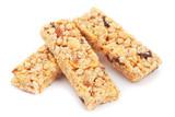 Granola bars isolated on white