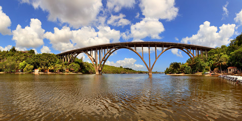 The high bridge over the river, Cuba