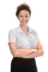 Portrait - Büroangestellte lachend isoliert