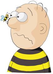 personaggio e ape