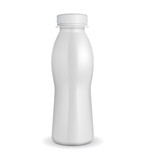 3D White Yogurt Plastic Bottle EPS10
