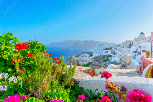 Fotobehang Athene Greece famous Santorini island in Cyclades,view of traditional w