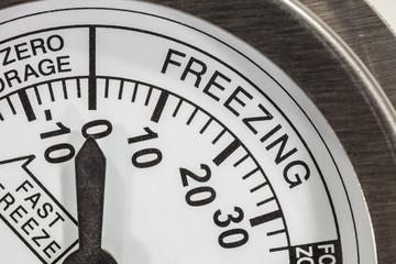 Freezing Zone Thermometer Macro Detail