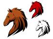 Angry stallion mascot